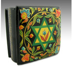 RBX-52 Judaica Box Star of David & Flowers