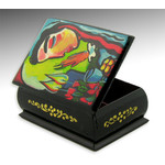 "RBX-58 Judaica Hand Painted Box ""Praying - Lighting Candles"" 2 3/4""x2"""