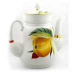 "L6093 Lomonosov Porcelain Tea pot ""Pear"" 7 1/2""x6 1/2"""