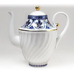 L9548 Lomonosov porcelain 'Cobalt Frieze' Coffee Pot