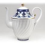 L9548 Lomonosov porcelain 'Cobalt Frieze' Coffee Pot