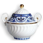 L9549 Lomonosov porcelain 'Cobalt Frieze' Sugar Bowl