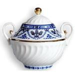 L9549 Lomonosov porcelain 'Cobalt Frieze' Sugar Bowl
