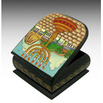 RBX-54 Menorah Judaica Hand Painted Box