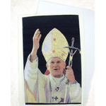 TGC91 Blessed Pope John Paul II Tapestry Icon Card
