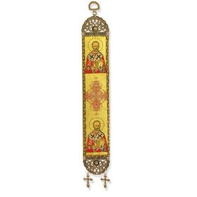 """TSL18 St Nicholas Tapestry Icon Banner 13""""x2"""""""