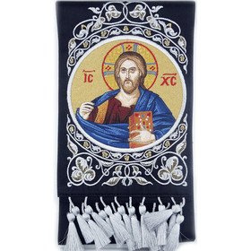 EMB-11BL Gospel Book Marker Image of Christ Hand Made in Russia! NEW