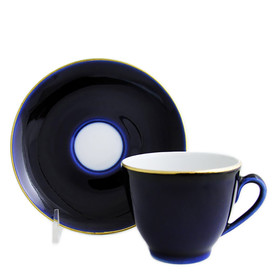 "L11156 LOMONOSOV COFFEE CUP & SAUCER ""NIGHT"""