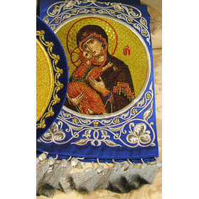 EMB-11BV Gospel Virgin Mary & Christ  Book Marker  Hand Made in Russia! NEW