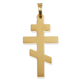 540-PL    14KT Gold Cross 7/8""