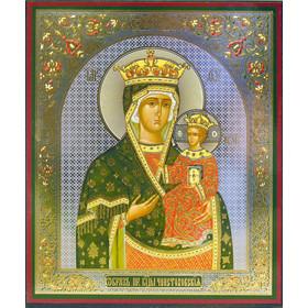 "IR-716 Virgin of Czestochowa 8 3/4""x7 1/4"""