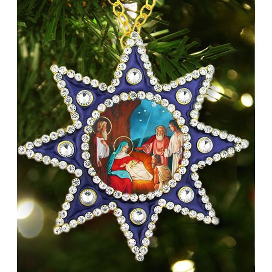 Icon Pendants Standing Hanging Crosses Star Of Bethlehem Wall Tree Ornaments M 6b 62 Christmas Ornament Nativity Christ Faberge