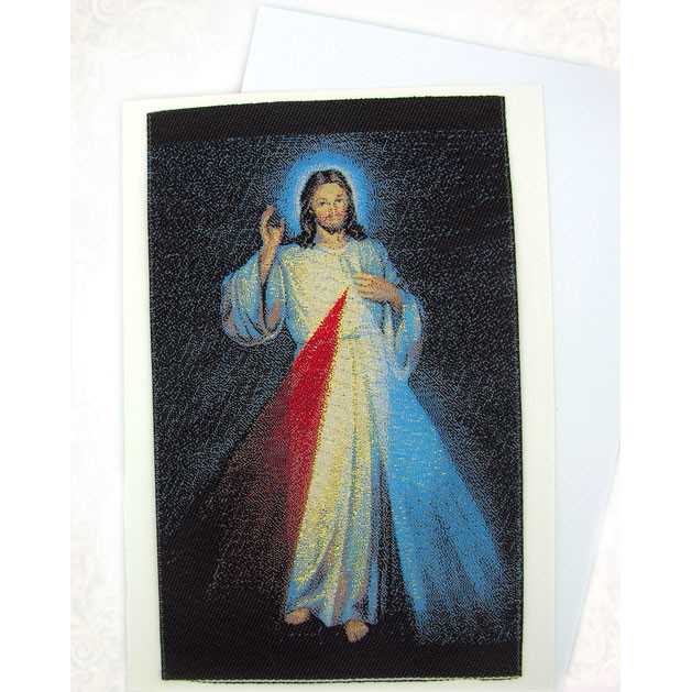 Rosary pouches banners book markers greeting cards icon greeting tgc92 the divine mercy tapestry icon card m4hsunfo